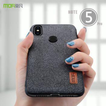Redmi note 5 case cover MOFI for xiaomi redmi note 5 global Fabrics Cover Case note 5 pro Silicone edge full Cover Back Case