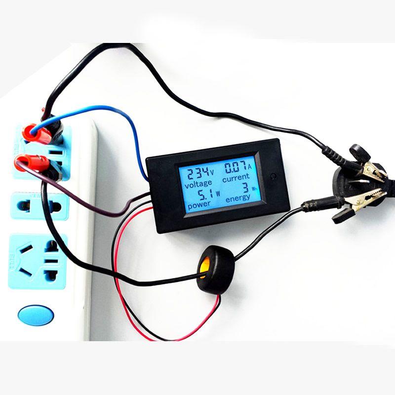 Numérique AC Tension Mètres 100A/80 ~ 260 V Puissance D'énergie analogique Voltmètre Ampèremètre watt actuel Ampère voltmètre LCD Moniteur à Écran
