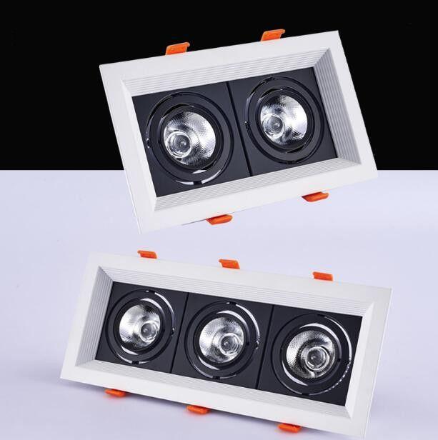 1 pièces carré 20 W 30 w AC85V-265V LED dimmable plafond Downlight encastré lampe à LED Spot lumière LED pour l'éclairage à la maison 110 V 220 V