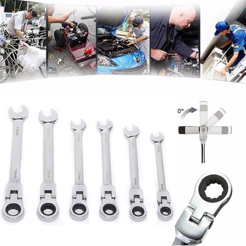 6 pièces/ensemble activités engrenages à cliquet jeu de clés à fourche outils de réparation pour vélo clé dynamométrique combinaison clés Allen