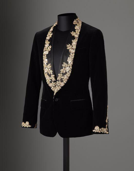 2018 tailleur marque velours noir dentelle Applique hommes costume Slim Fit smoking 2 pièces costumes marié bal Blazer Masculino veste + pantalon