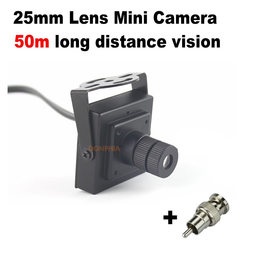 900TVL Mini caméra de vidéosurveillance 25mm lentille longue Distance moniteur Angle de vue 10 degrés sécurité Mini caméra de Surveillance vidéo