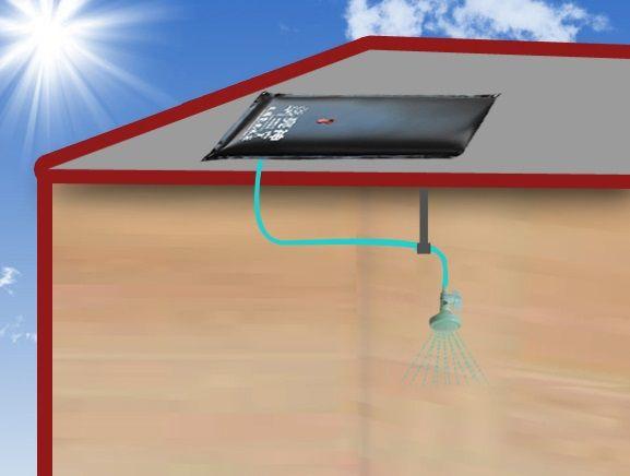 Hohe qualität 150L schwarz wasser tasche reise camping wandern sommer solar beheiztes dusche tasche hot travel kits tragbare outdoor