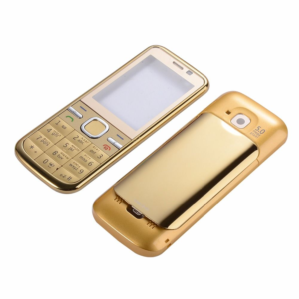 New Phone Housing Cover Case + English Or Russian Keypad For Nokia C5 C5-00 Housing