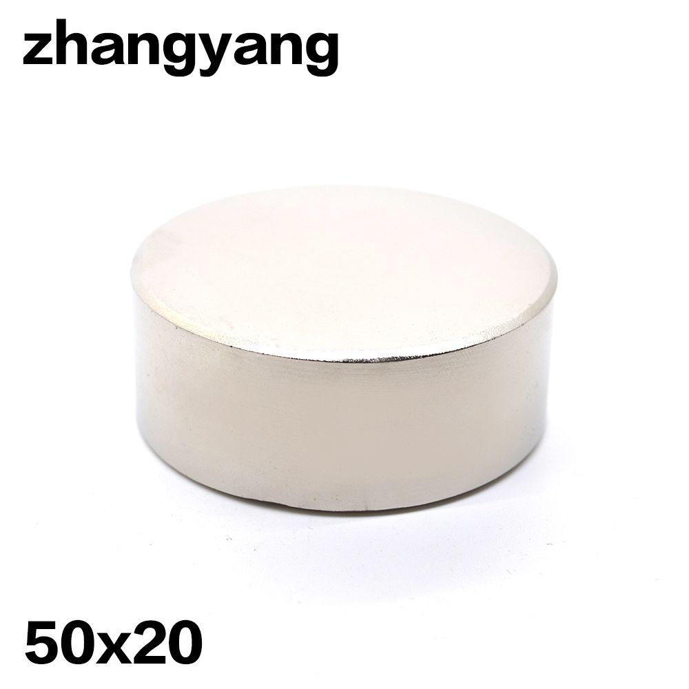 1pcs N52 Neodymium magnet 50x20 mm gallium metal super strong round magnet 50*20 Neodimio magnets