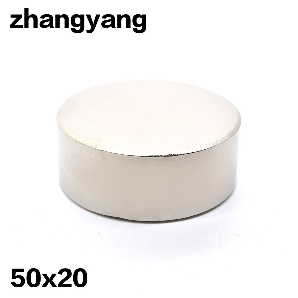 1pcs N52 Neodymium magnet 50x20 mm gallium metal super strong round magnet 50*20 Neodimio magnets
