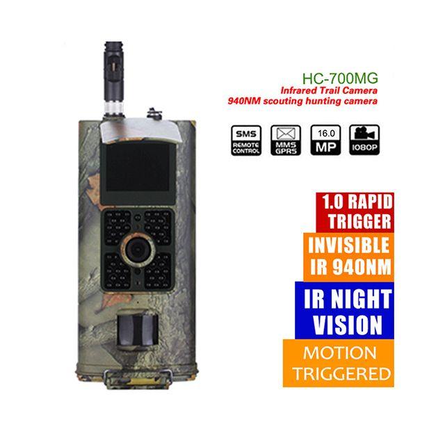 Suntekcam HC700G Hunting Camera 3G GPRS MMS SMTP SMS EMAIL 16MP 1080P 120 Degrees PIR 940NM Infrared Wildlife Trail Cameras Trap