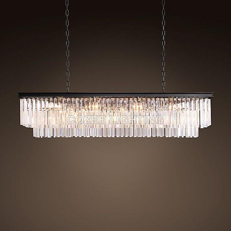 Vintage FÜHRTE Kronleuchter Beleuchtung Moderne Kristall Prism Kronleuchter Licht lustre de cristal für Wohnzimmer Esszimmer Restaurant Decor