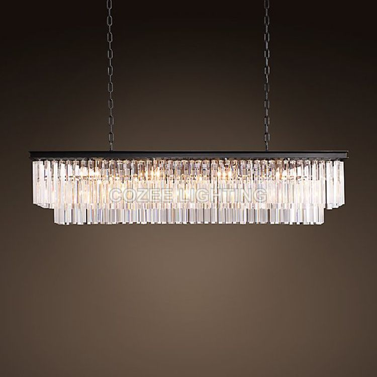 Vintage LED Chandeliers Lighting Modern Crystal Prism Chandelier Light lustre de cristal for Living Dining Room Restaurant Decor