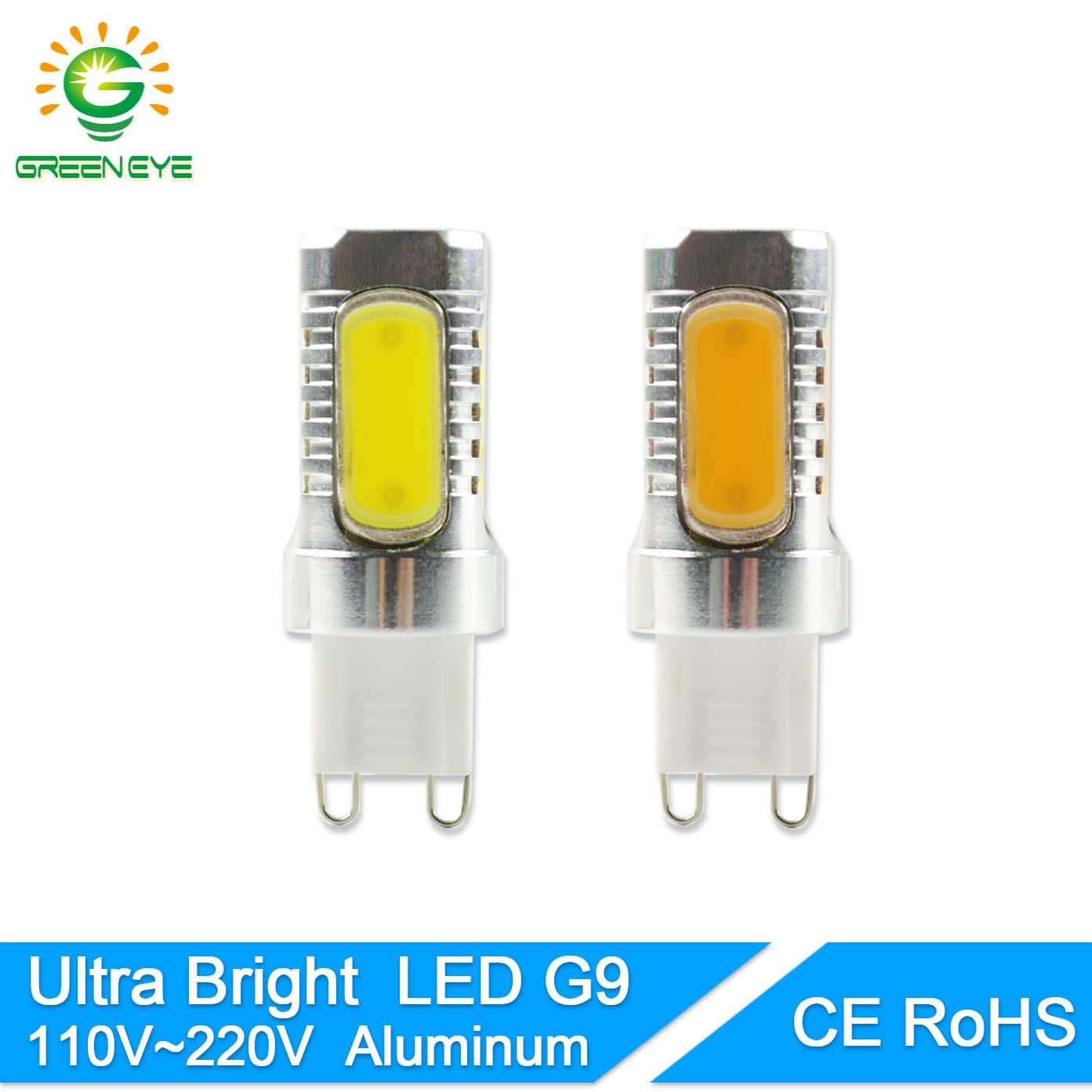 GreenEye Ultra Helle Led-lampe G9 12 Watt 110 V 220 V COB Licht Lampe Kristall Kronleuchter Scheinwerfer Ersetzen Halogen ampulle Lampara LED