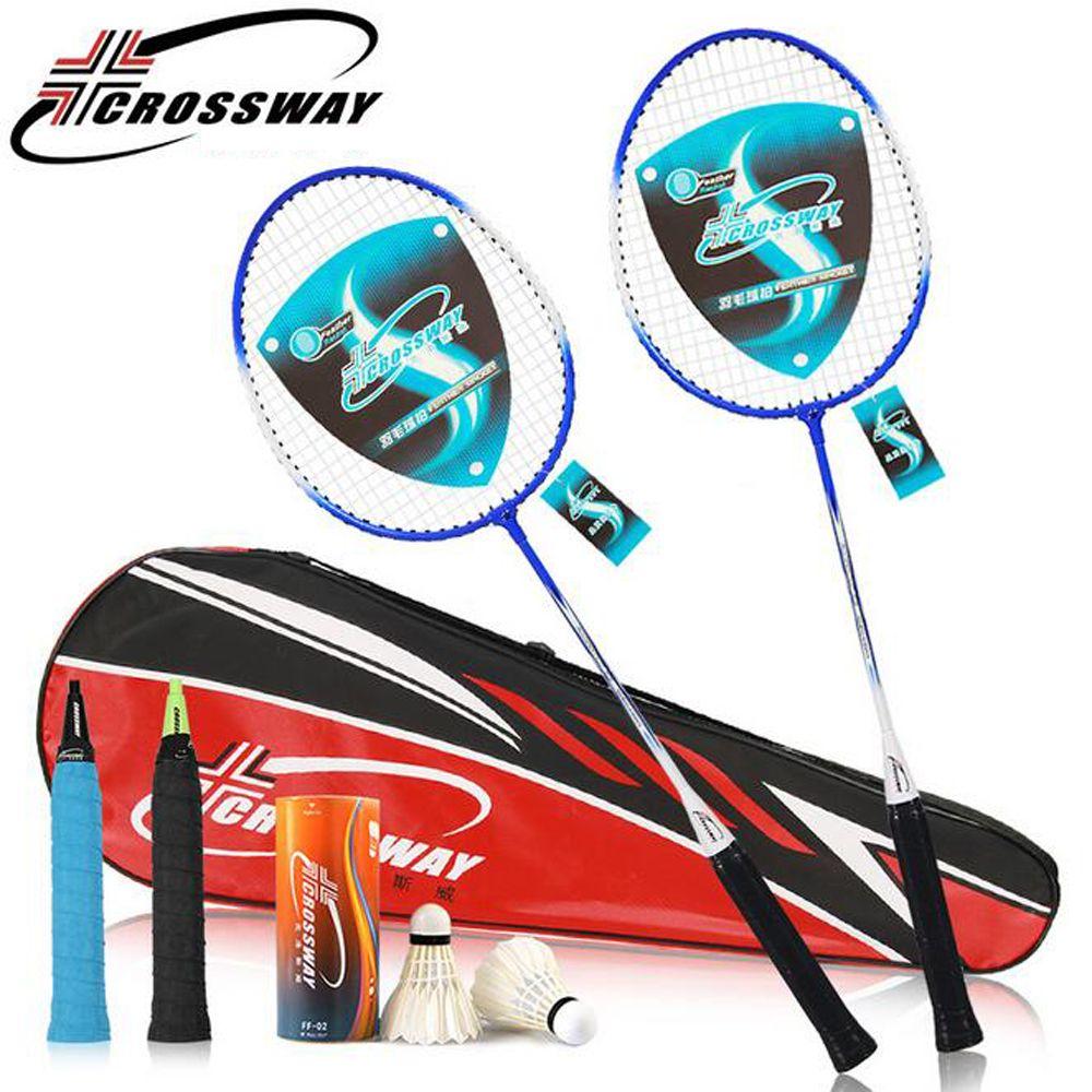 Kreuzung Badminton Schläger Eisenlegierung raquette de badminton mit Badminton Shuttlecock & Bag Fitness Ausrüstung mit tasche