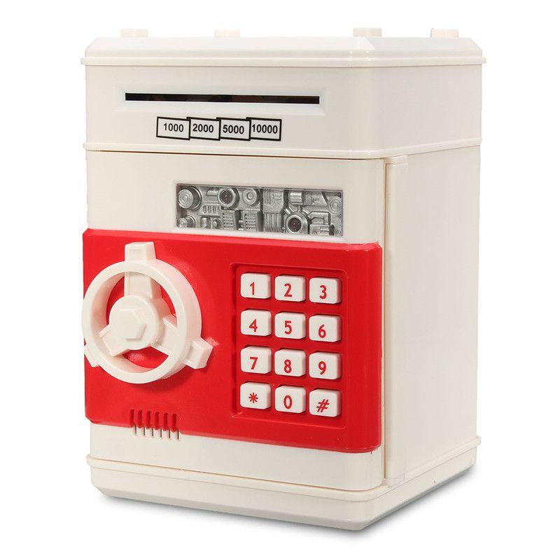 NEW Safurance Mini Piggy Bank ATM Money Box Safety Electronic Password Cash Deposit Machine Security Safes