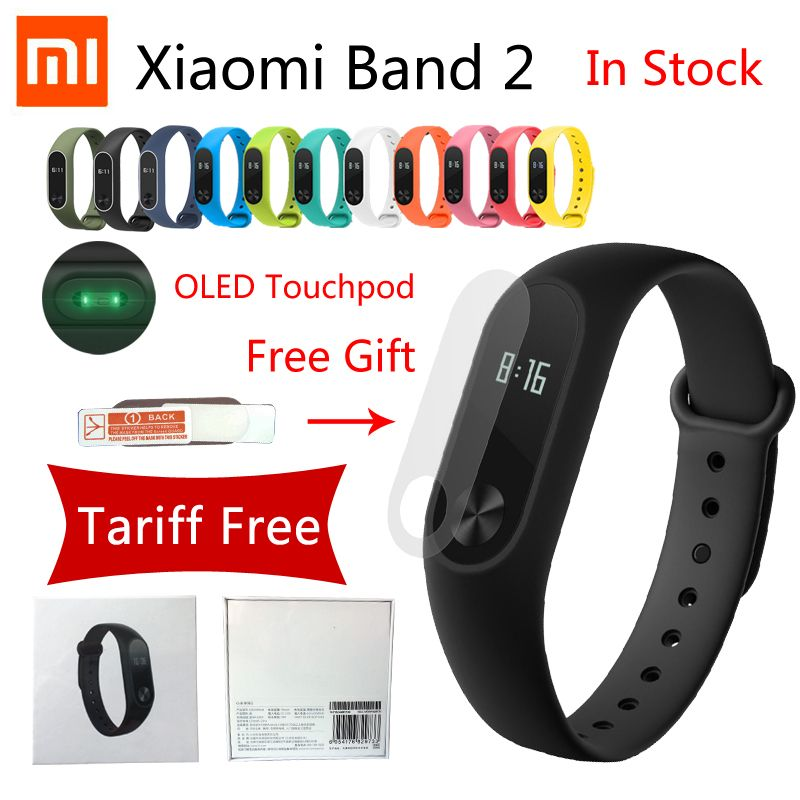 Original Xiaomi Band 2 Smart Bracelet Heart Rate Pulse Xiaomi Miband 2 xiaomi mi band 2 With OLED Touchpad mi band 2 Wristband