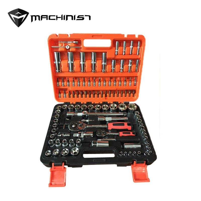 108 in 1 Socket Wrench Tools Maintenance Car Toolbox 1/2