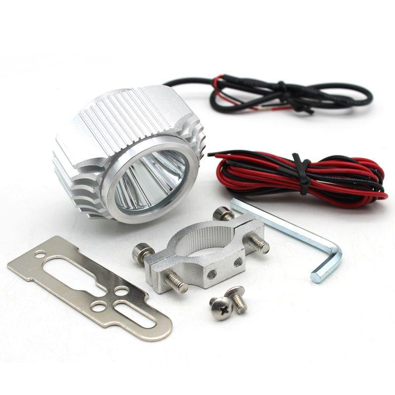 Universal Custom Motorcycle LED Headlight 15W 2000LM 8-80V Waterproof LED Daytime Running DRL Moto Headlamp Fog Light 6000K