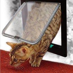 4 forma Dog Bloqueável Gatinho Cat Flap Porta de Segurança Da Porta ABS Plástico S/M/L Animal Pequeno Animal de Estimação portão Porta Do Cão gato Pet Fornecimentos