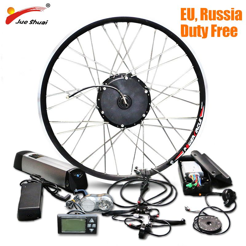 jueshuai Electric Bicycle Electric Bike Conversion Kit with Battery Lithium ion Battery 36V 12ah Hub MotorEbike E-bike Kit