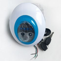 5 in1 LED Headlight Frontlight untuk Sepeda Listrik Skuter 36 V Cahaya dengan Tanduk Kunci