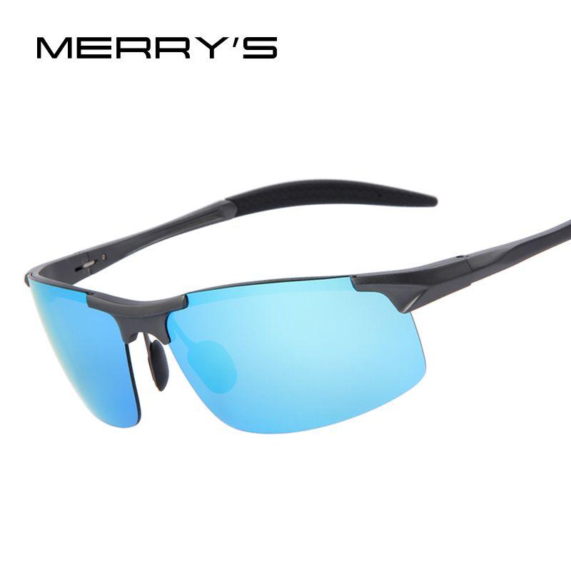 MERRY'S Men Polarized Aluminum Alloy Frame Sunglasses Mirror Lens Driving Polarzied Sunglasses Fashion Men's Sunglasses 5 Color