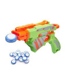 12 Pcs Biru Putih Cakram Gun Vortex Praxis Terbang Mainan Peluru untuk Permainan Outdoor