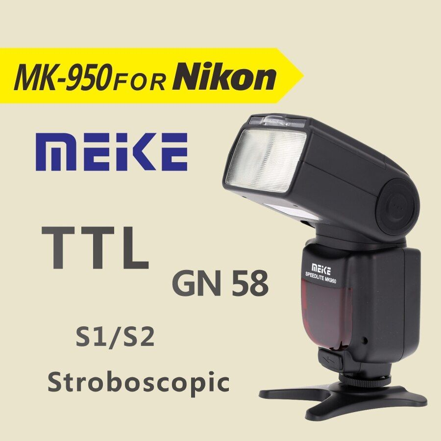 Meike MK950 TTL je-TTL Speedlite 8 Contrôle Lumineux Flash pour Nikon D5300 D7100 D7000 D5200 D5100 D5000 D3100 d3200 D600 D90 D80
