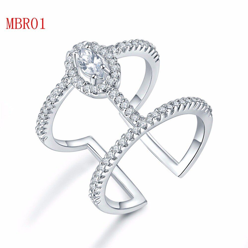 new arrive fashion jewerly sliver gold rings for <font><b>couple</b></font> MBR01