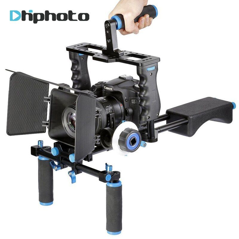 Ulanzi Professional DSLR Rig Shoulder Video Camera Stabilizer Matte Box+Follow Focus+Cage for Canon Nikon Sony dslr Camcorder
