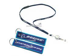 Airlines Boeing Lanyard & Mudah Tarik Gesper & Tas Tag/sling untuk lisensi pemegang, mudah-gunung gesper