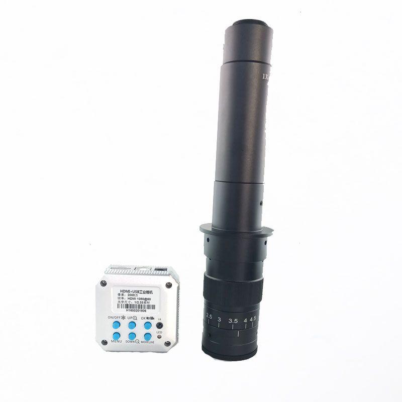 Free shipping 20MP Full 1080P HDMI USB industrial video digital microscope camera +180X 300X C-Mount lens BGA phone repair