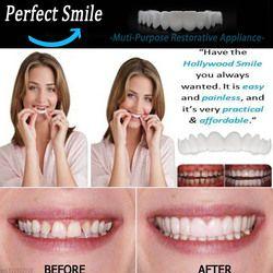 Snap On instantánea sonrisa perfecta comodidad Fit Flex dientes más cómodo dientes falsos superior cosméticos falsos dientes cubierta