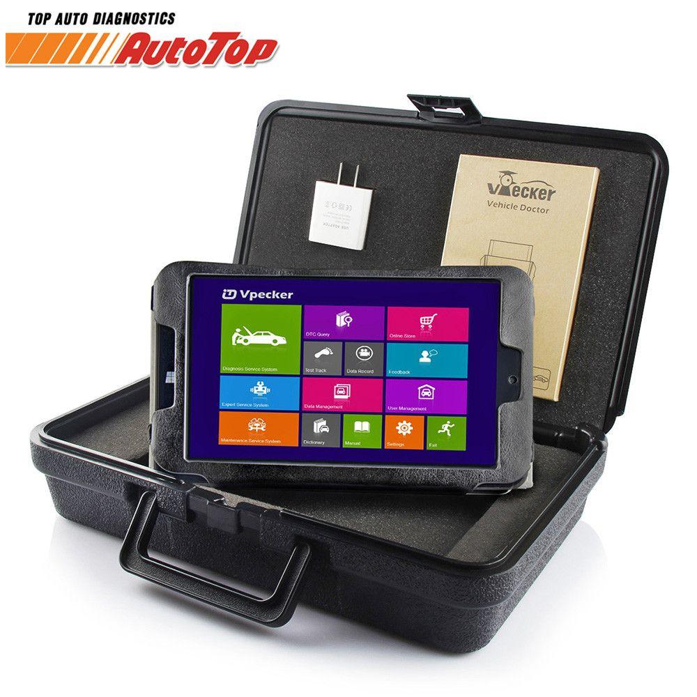 2018 Vpecker Easydiag OBD2 Autoscanner V10.5 WIFI Automotive Scanner + 8 in Windows 10 Tablet ODB 2 OBD Car Diagnostic Scanner