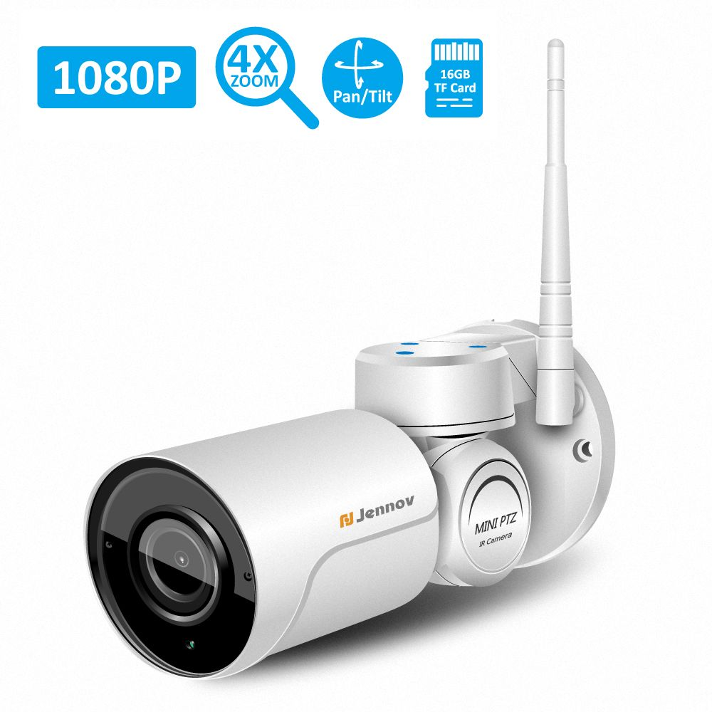 PTZ Wifi 1080P 960P Full HD 2.8-12mm Lens 4X Zoom IP Camera CCTV Security Outdoor Video Surveillance Audio Email Alarm Led Light