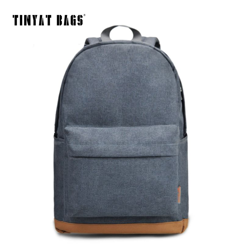 TINYAT Men's 15 inch laptop backpack computer male school backpacks rucksacks leisure for teenage mochila Escolar Gray Bag 1101