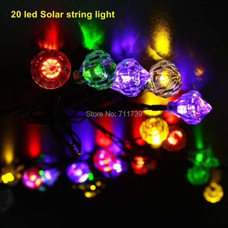 1set 20 led Bright Solar Powered Led String Light Fairy Starry lights Flower Decorative Indoor Outdoor Garden Christmas Tree