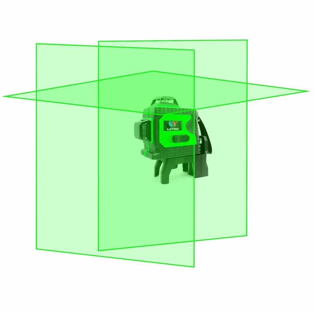 3D autonivelante nivel láser verde 360 grados 12 líneas horizontal y vertical Cruz