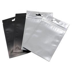 9*15 cm 200 Pcs/Lot Hitam Diri Seal Aluminium Foil Kunci Zip Kemasan Kantong, batal Ditutup Kembali Poli Milar Ritsleting Tas Penyimpanan Paket