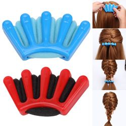 2 Couleurs Lady Français Cheveux Tressage Outil Weave Eponge Plait cheveux Twist Coiffure Braider DIY Accessoires