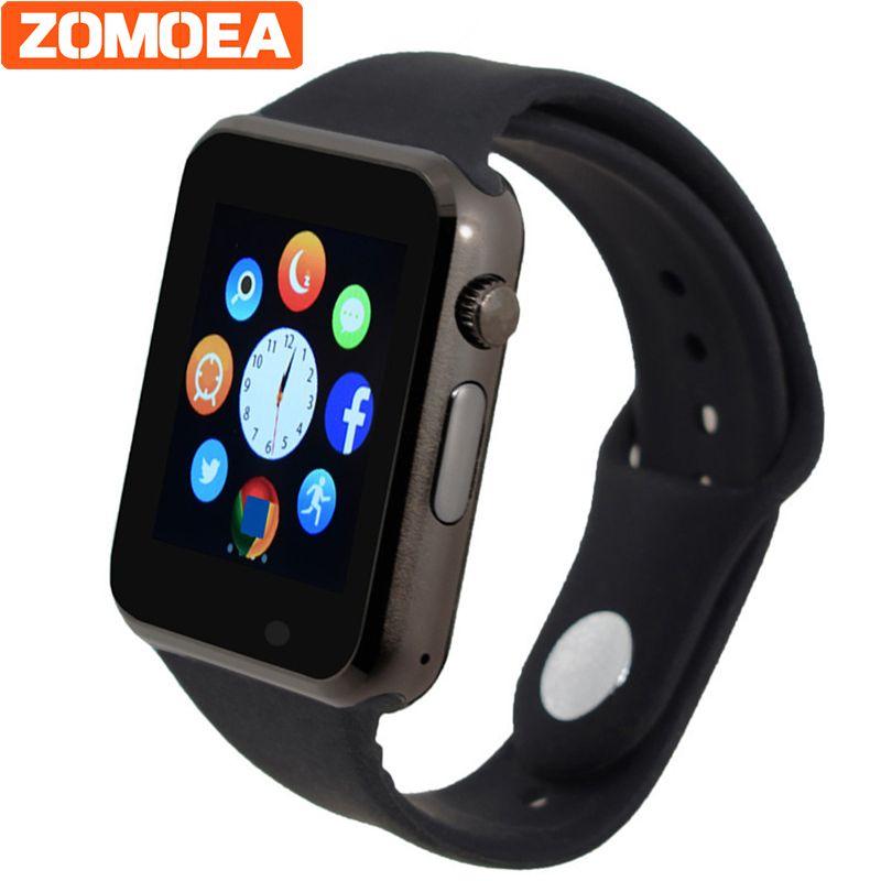Bluetooth Смарт часы наручные часы Спорт Шагомер с SIM Камера умных часов для Android-смартфон русский калькулятор