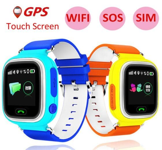 Slimy GPS Kids Smart Watch Q90 Baby Smartwatch With 1.22inch Touch Screen SOS Call Location Tracker for Kids Safe Best Gift