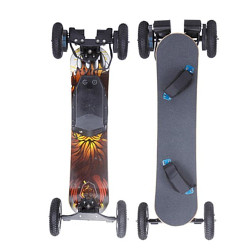 4 PU wheels electric offroad bamboo skateboard with remote control