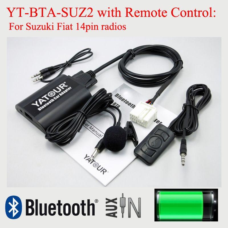 Yatour Автомобиль Bluetooth Mp3-плеер YT-BTA с Пультом Дистанционного Управления для Suzuki PACR 14pin разъем радио