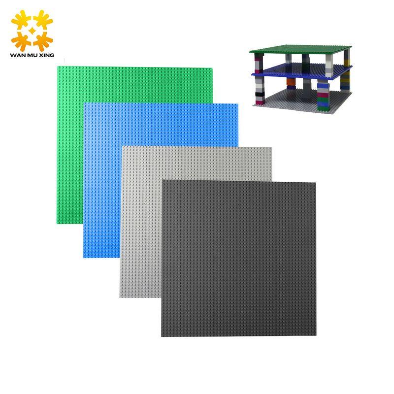 1 pièces petits blocs plaque de Base points 25*5*25.5 cm blocs de construction bricolage plaque de Base pour chiffres compatibles avec blocs nouvelle Version