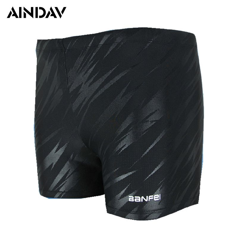 New Men Swimwear Boxer Shorts Square Leg Swimming Trunks Male Swimsuits Sports Swim Briefs Surf Board Shorts Plus Size Large 4XL