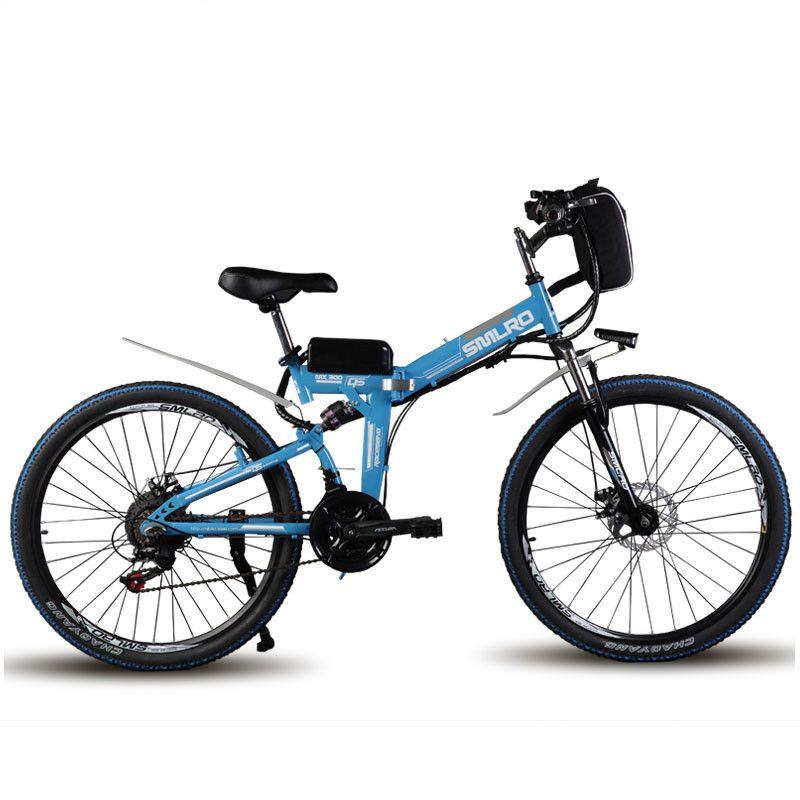 24 inch elektro mountainbike rang 60 km maxspeed 35 km/std Falten elektro-bike 500 watt motor power walking Doppel schock Ebike