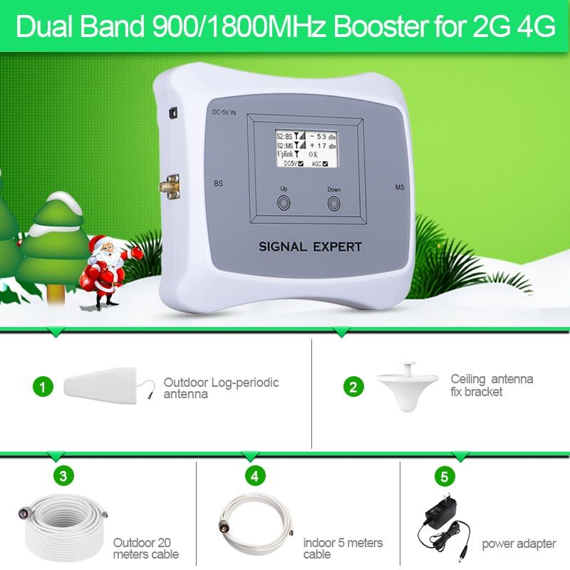 Neue Ankunft! 2g 4g handy signal booster DUAL BAND 900/1800 mhz cellular signal handy repeater verstärker mit LCD display kit