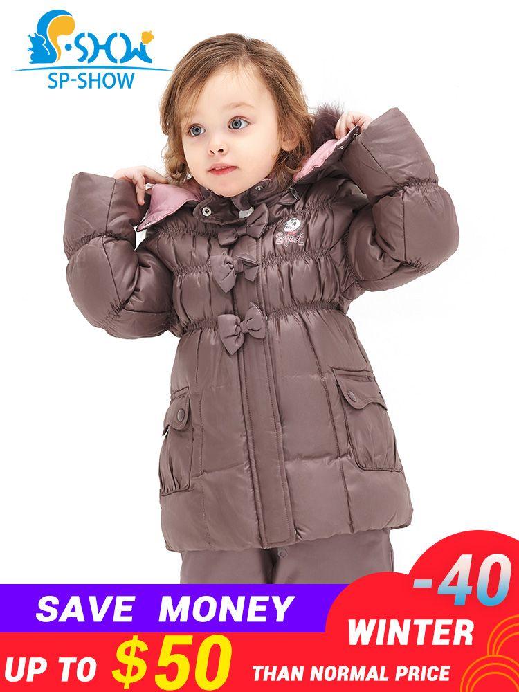 SP-SHOW Winter Kinder Anzug Mädchen Super Mode Anzug Warme Mantel Futter Fleece Warm Zu Halten Die Anti-pilling Mantel 128202