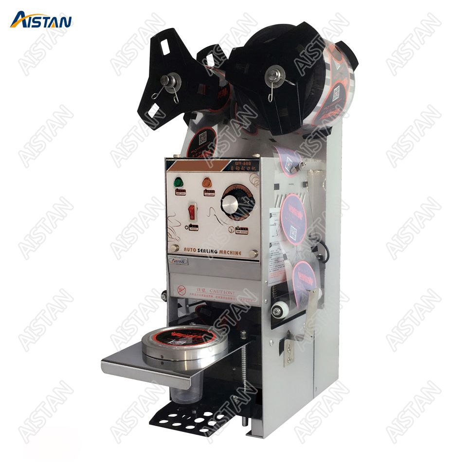 WY680 electric cup bottle sealing machine desktop automatic for Milk tea shop coffee bar