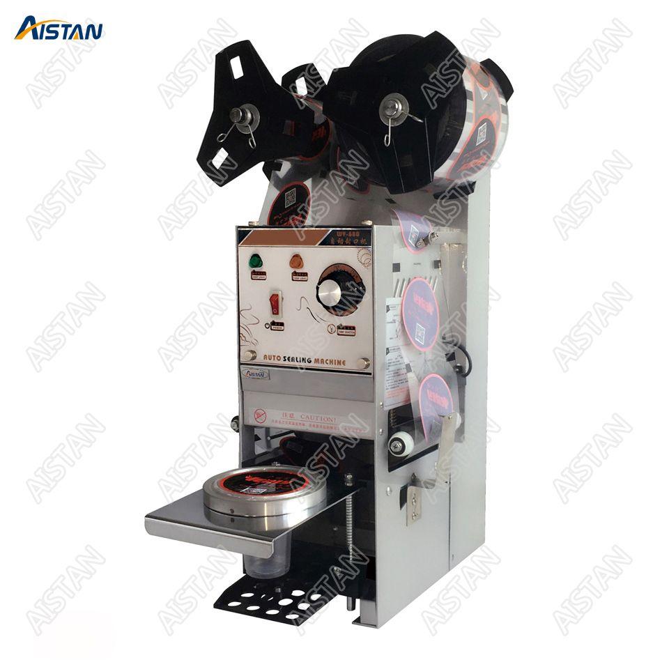 WY680 elektrische tasse flasche abdichtung maschine desktop automatische für Milch tee shop kaffee bar