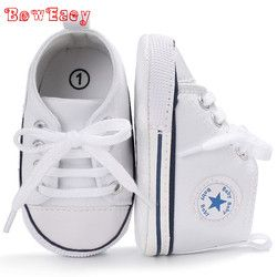 2018 New active All Star Encaje lona Zapatos para 0-18 m bebé Niños Niñas lave- up niño Zapatos antideslizante sapatos de bebe zapatos