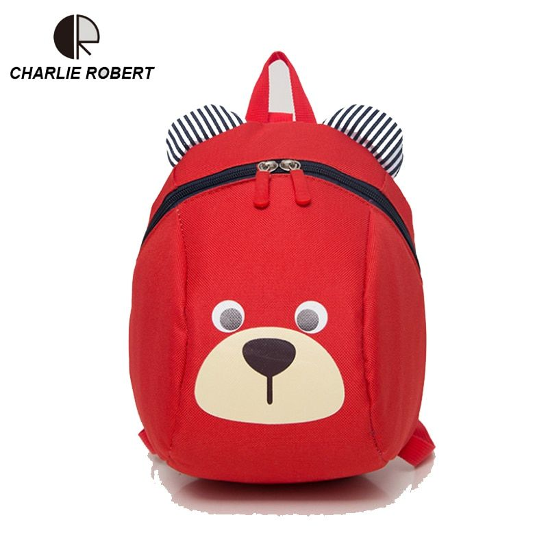 Baby Bear Children Backpack  For 1-3 Years Kindergarden Boys And Girls Bag Animal Cartoon  Charactors Toddler Anti-lost Backpack